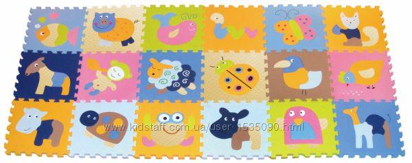 Детский игровой коврик-пазл Волшебный мир от TM BABYGREAT, 184х92 см