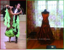 Леопардовое платье для бальных танцев