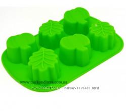 Форма силиконовая Яблоки и листья