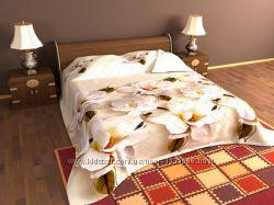 Летнее стеганое одеяло покрывало 3D с напылением и ЭКО Лелека Leleka