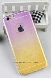 Чехол бампер силиконовый для смартфона Apple iPhone 6s Plus, градиент