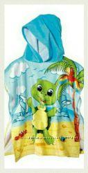 яркие пляжные полотенца - пончо