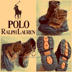 кожаные демисезонные ботинки Polo Ralph Lauren оригинал 17 см стелька