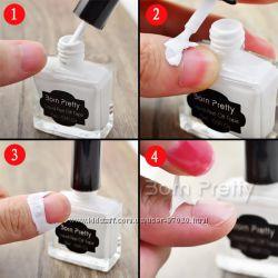 BORN PRETTY 15ml White Peel Off Liquid Tape & Peel Off Base